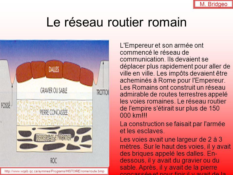 Le réseau routier romain
