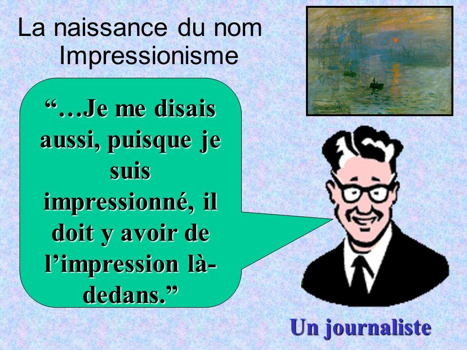 La naissance du nom Impressionisme