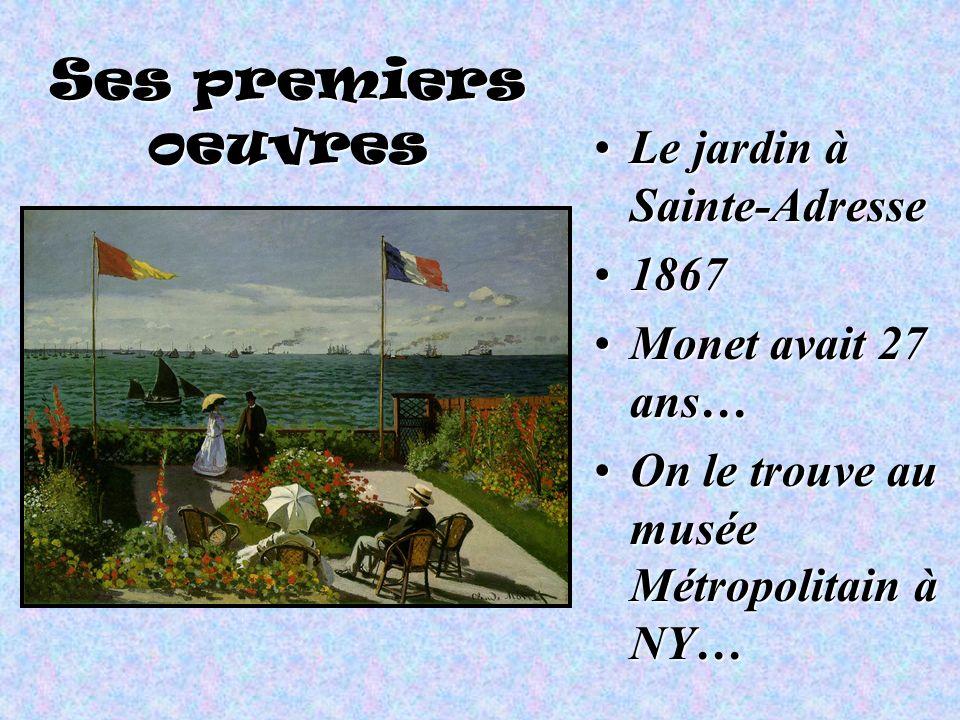 Ses premiers oeuvres Le jardin à Sainte-Adresse 1867