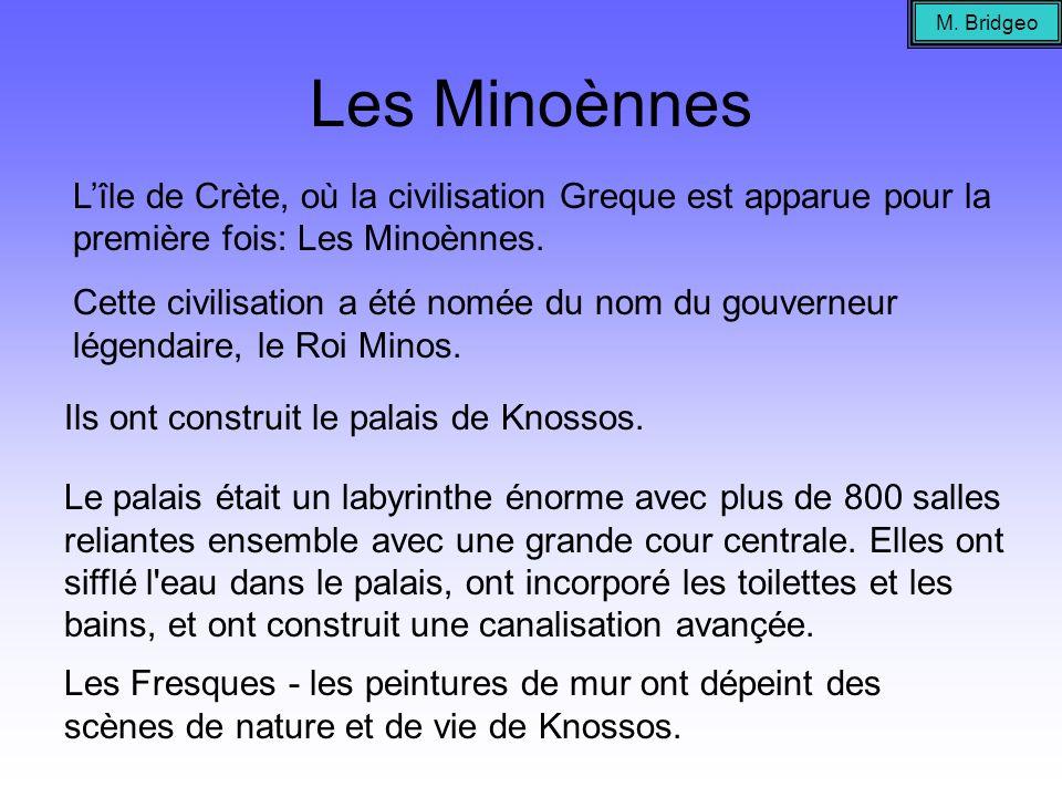M. Bridgeo Les Minoènnes. L'île de Crète, où la civilisation Greque est apparue pour la première fois: Les Minoènnes.