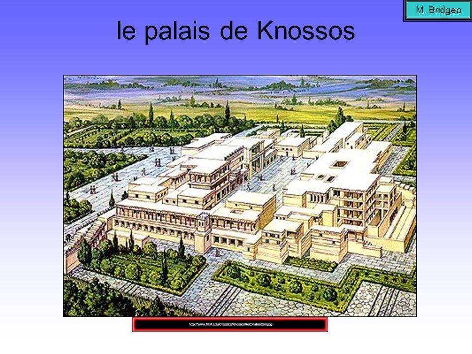 le palais de Knossos M. Bridgeo