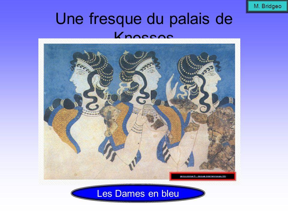 Une fresque du palais de Knossos