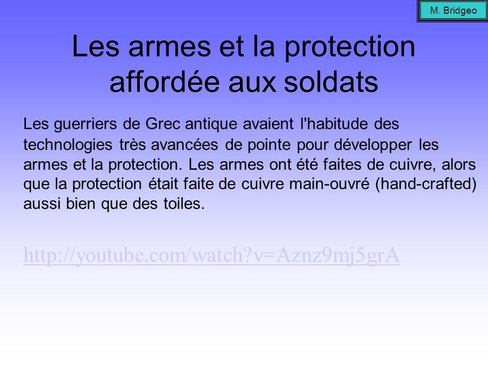 Les armes et la protection affordée aux soldats