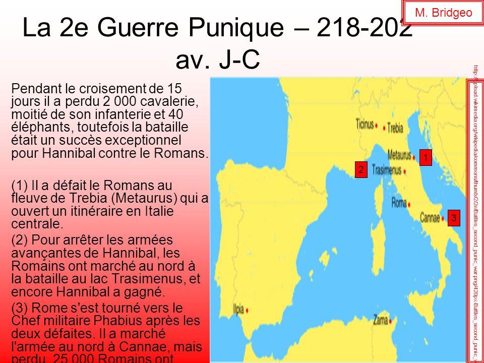 La 2e Guerre Punique – 218-202 av. J-C