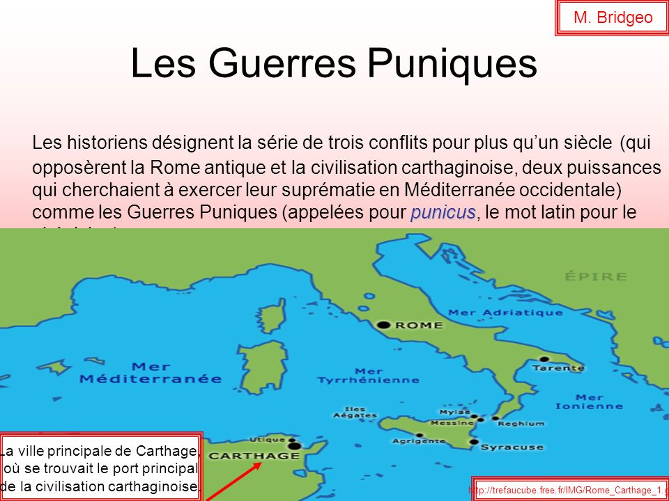 M. Bridgeo Les Guerres Puniques.