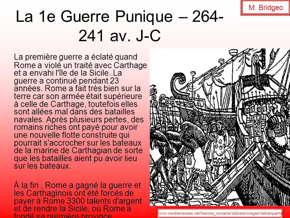 La 1e Guerre Punique – 264-241 av. J-C