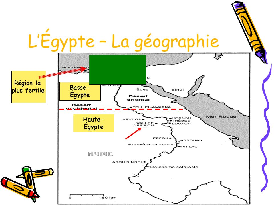 L'Égypte – La géographie