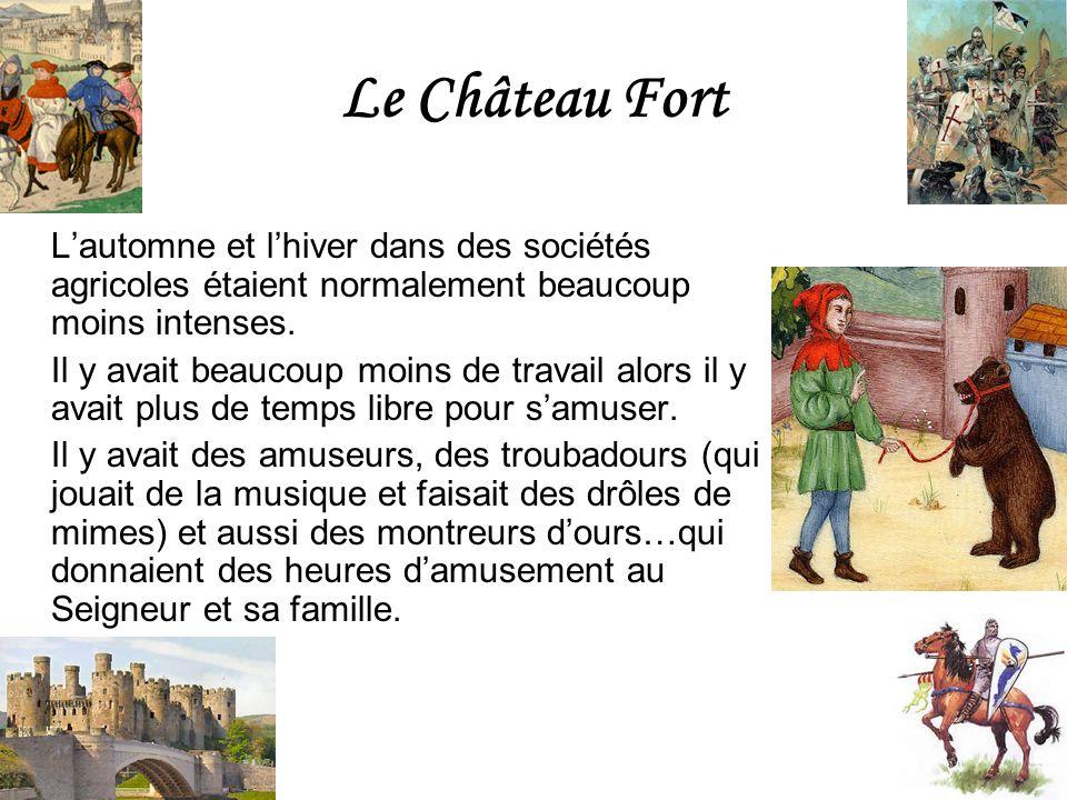 Le Château Fort L'automne et l'hiver dans des sociétés agricoles étaient normalement beaucoup moins intenses.
