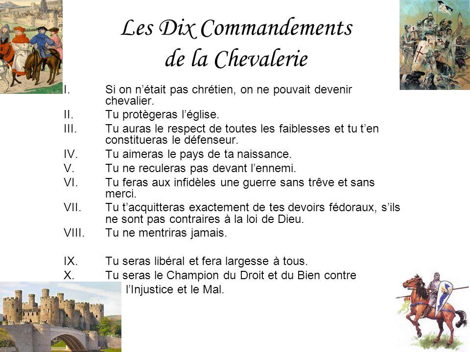 Les Dix Commandements de la Chevalerie