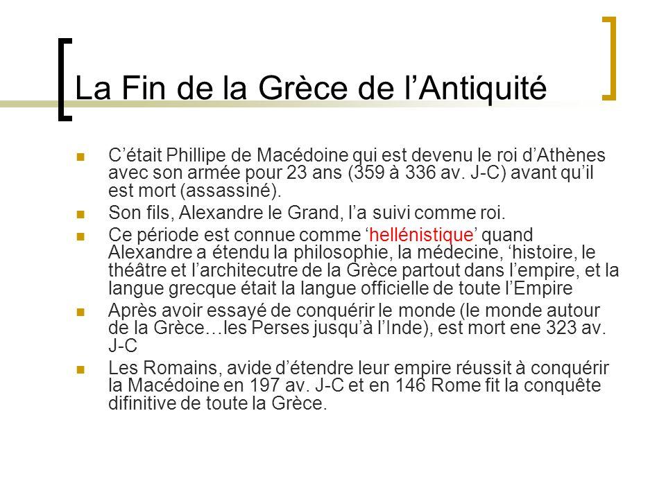 La Fin de la Grèce de l'Antiquité
