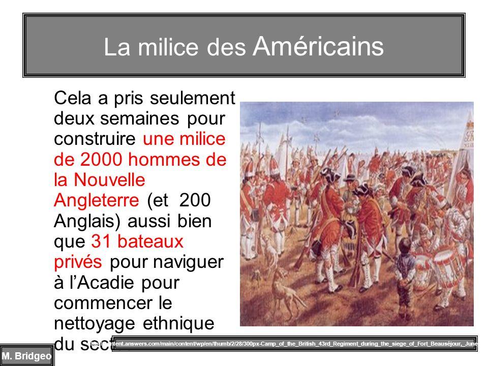 La milice des Américains