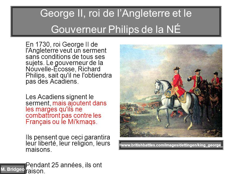 George II, roi de l'Angleterre et le Gouverneur Philips de la NÉ