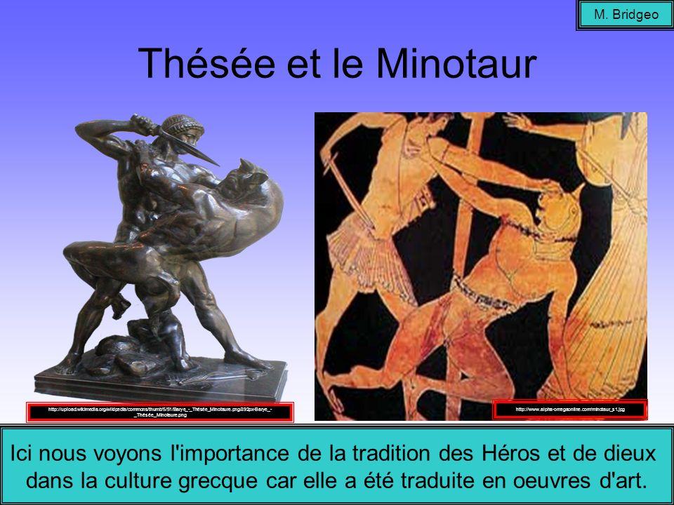 M. BridgeoThésée et le Minotaur.