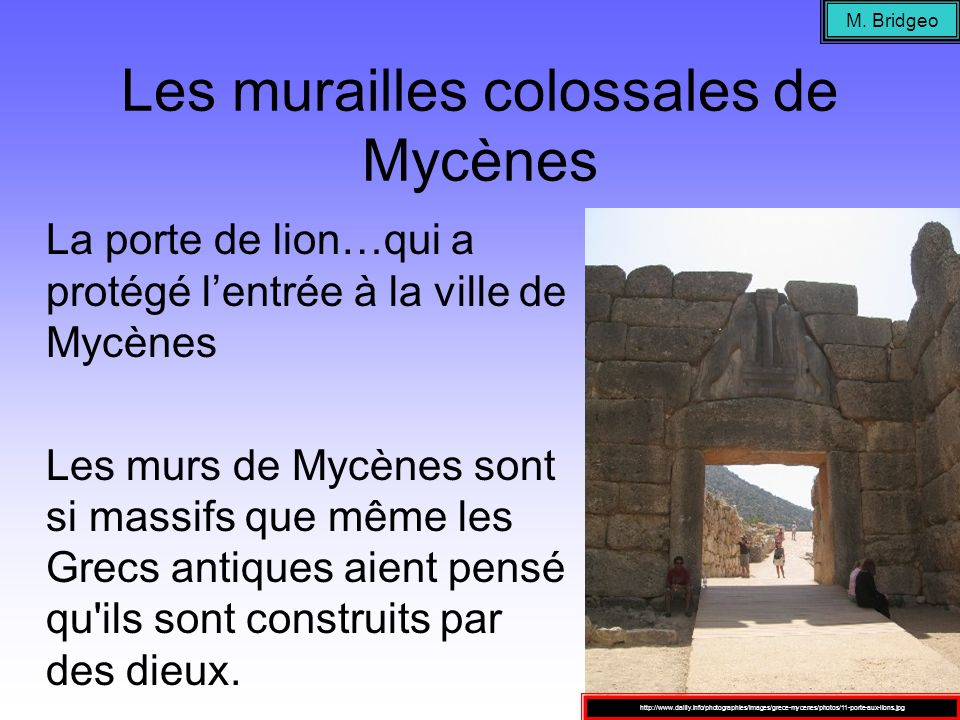 Les murailles colossales de Mycènes