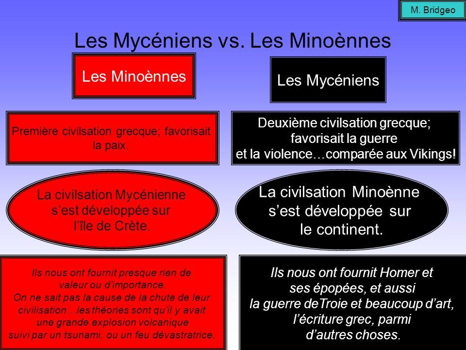 Les Mycéniens vs. Les Minoènnes
