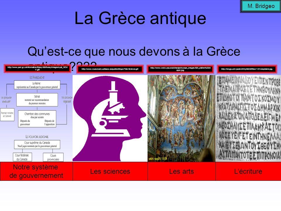 La Grèce antique Qu'est-ce que nous devons à la Grèce antique