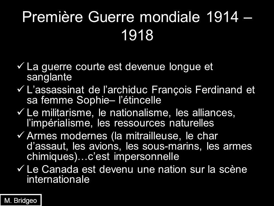 Première Guerre mondiale 1914 – 1918