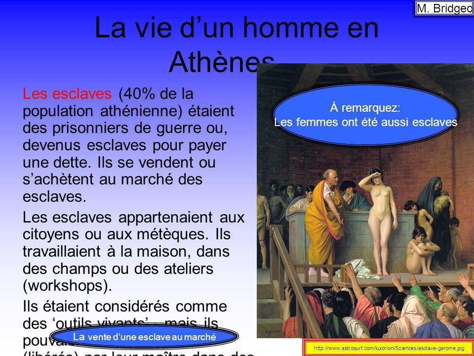 La vie d'un homme en Athènes…