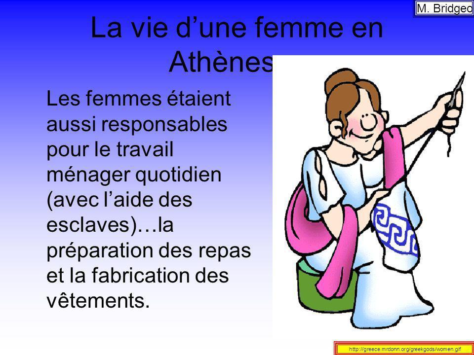 La vie d'une femme en Athènes…
