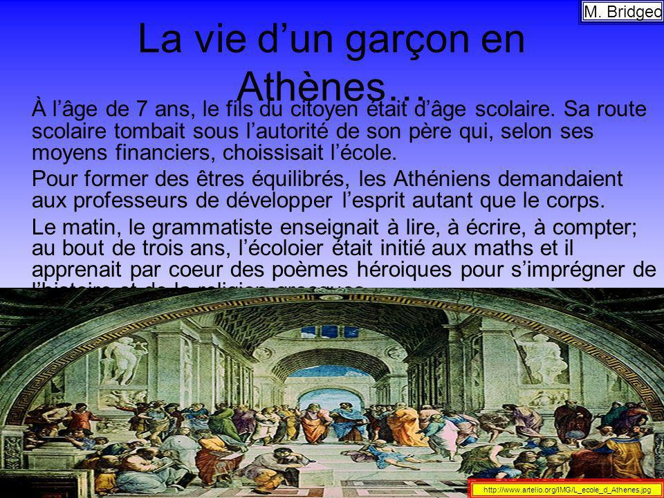 La vie d'un garçon en Athènes…