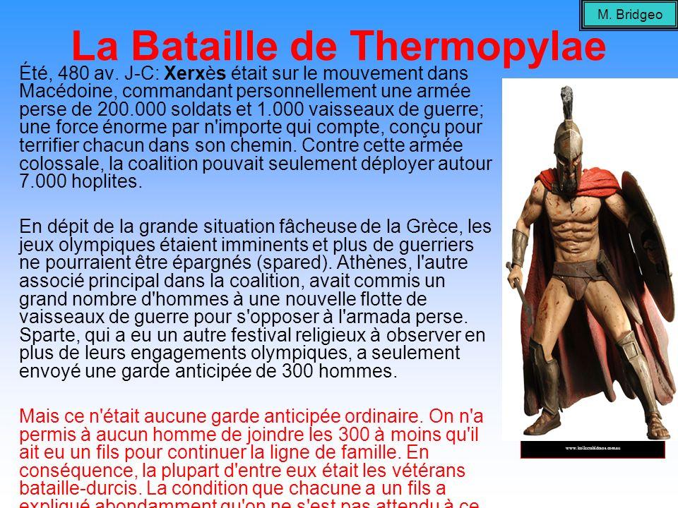 La Bataille de Thermopylae