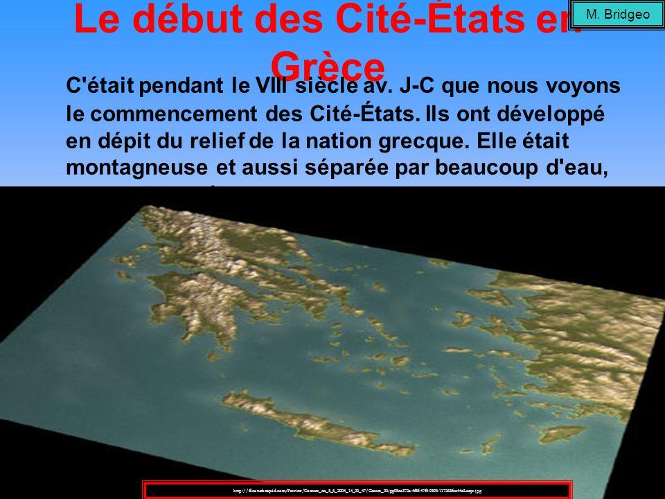 Le début des Cité-États en Grèce