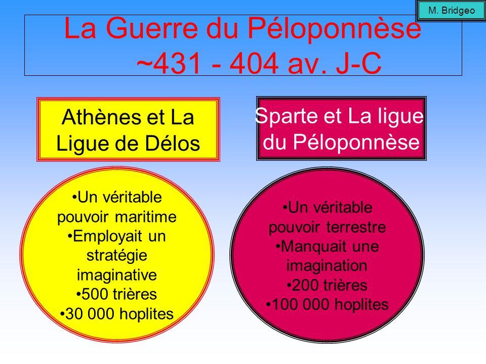La Guerre du Péloponnèse ~431 - 404 av. J-C