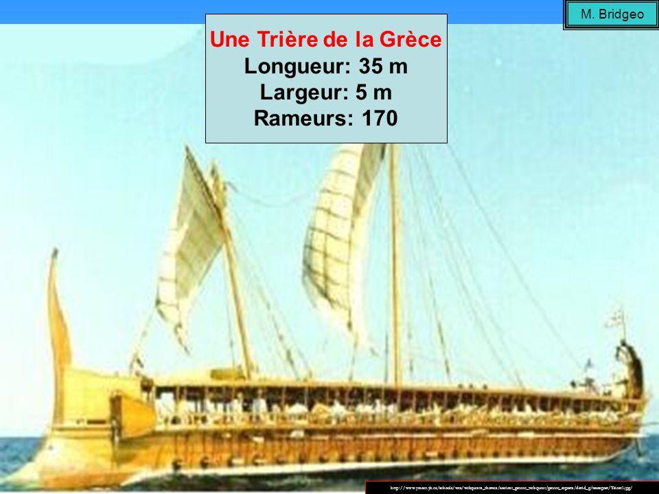 Une Trière de la Grèce Largeur: 5 m Rameurs: 170