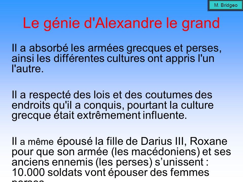 Le génie d Alexandre le grand