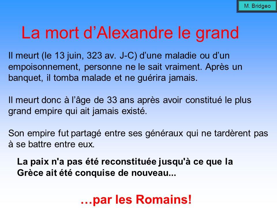 La mort d'Alexandre le grand