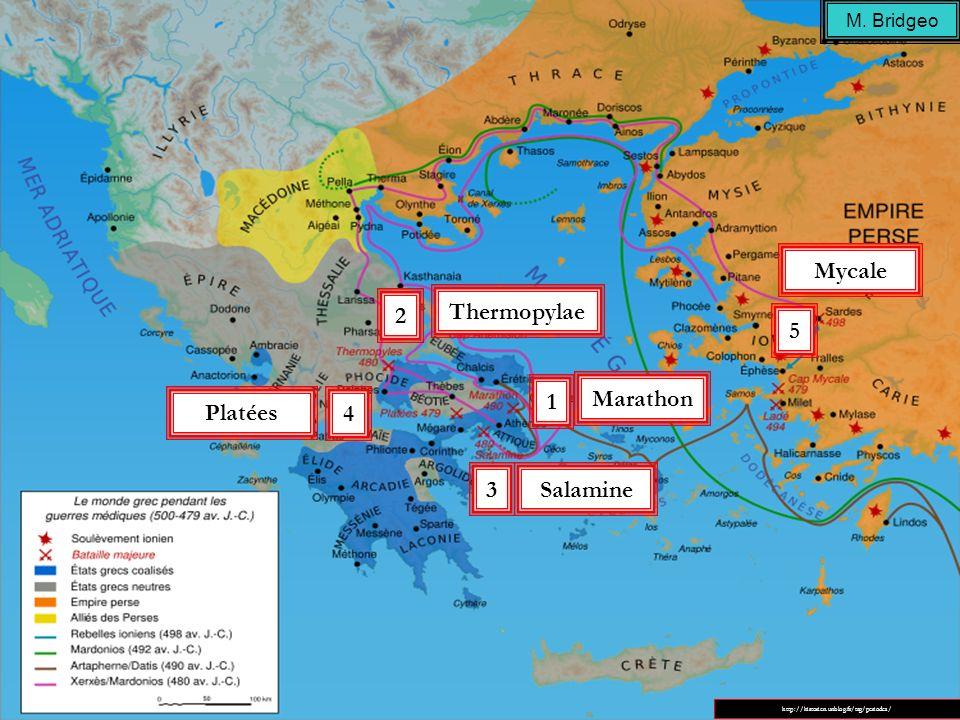 Mycale 2 Thermopylae 5 1 Marathon Platées 4 3 Salamine