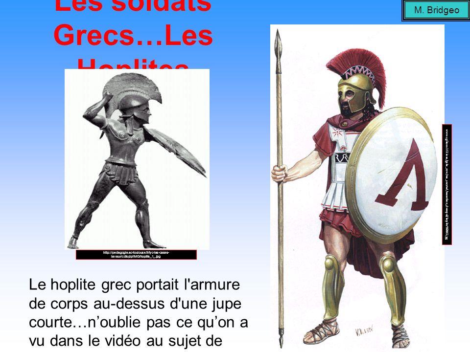 Les soldats Grecs…Les Hoplites