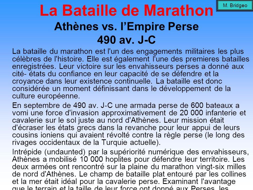 La Bataille de Marathon Athènes vs. l'Empire Perse 490 av. J-C