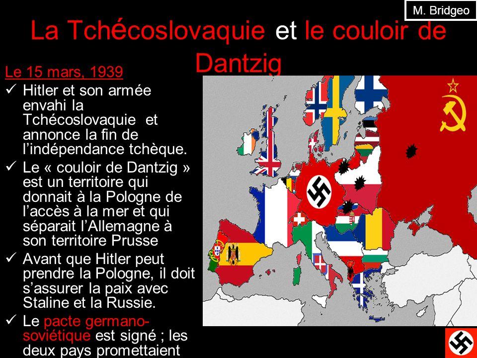 La Tchécoslovaquie et le couloir de Dantzig