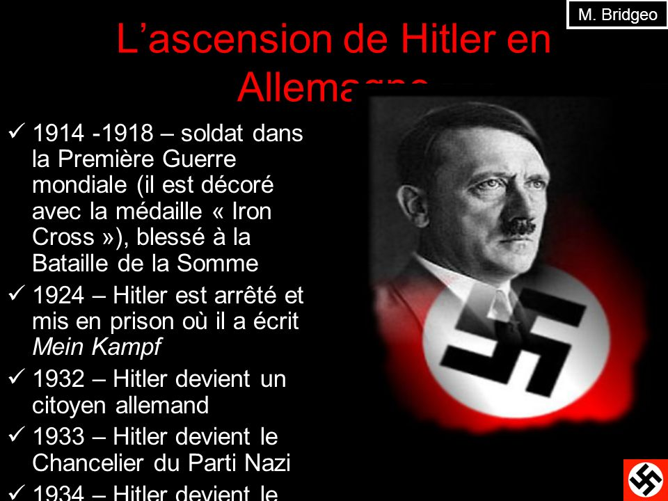 L'ascension de Hitler en Allemagne