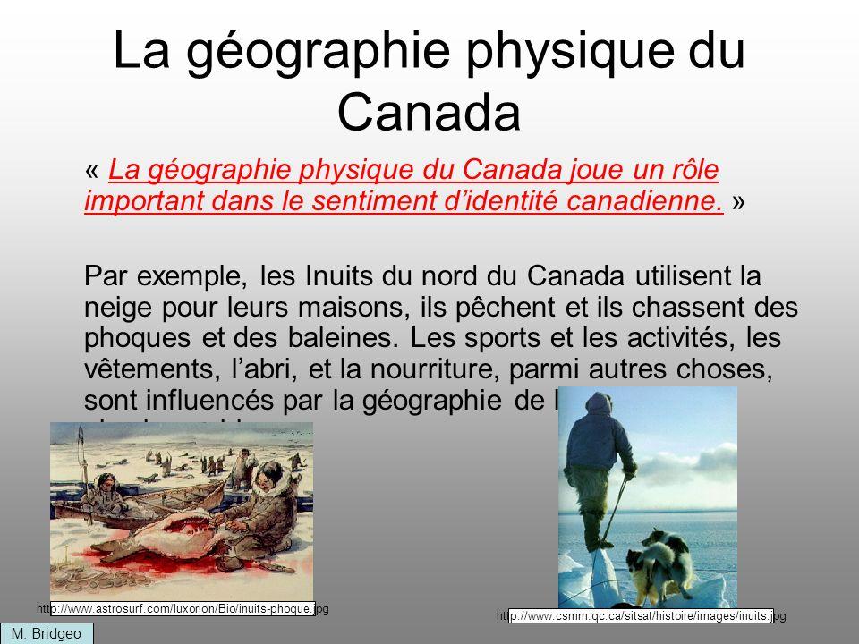 La géographie physique du Canada