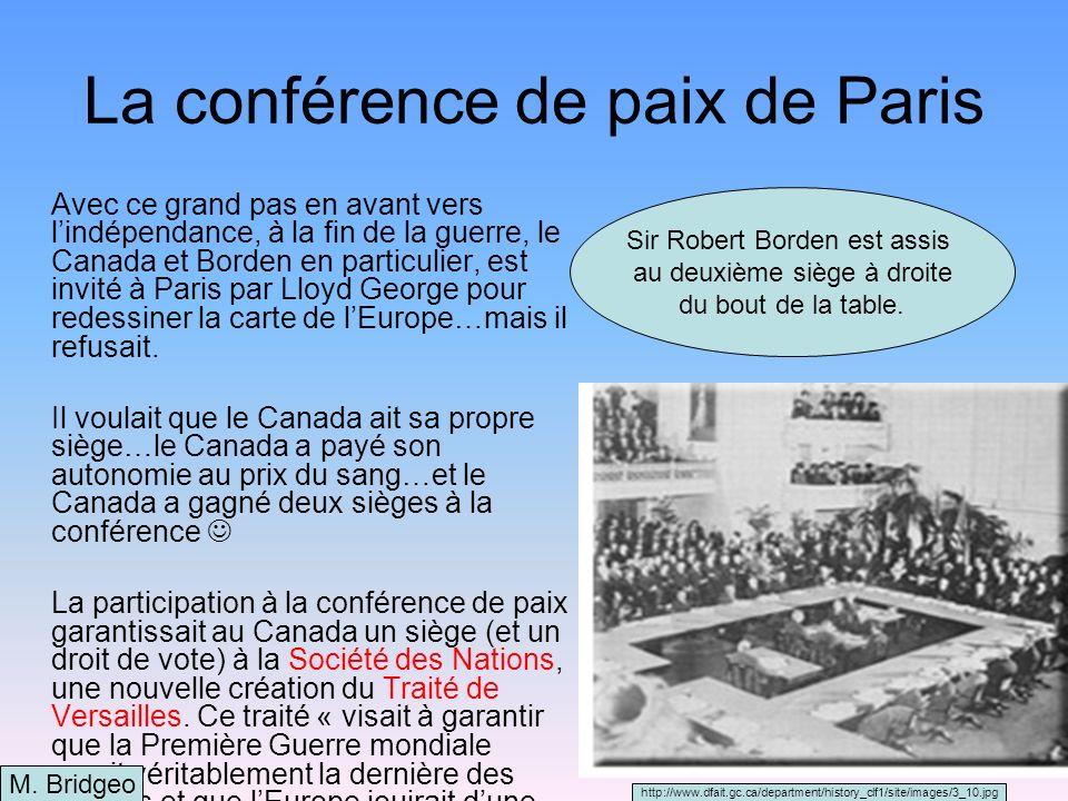 La conférence de paix de Paris