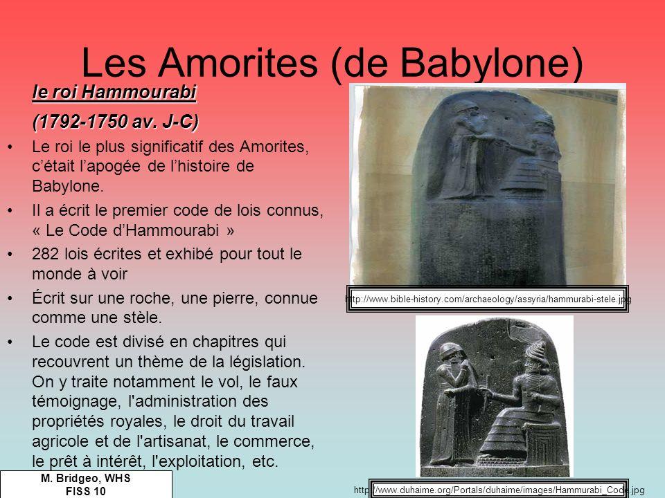 Les Amorites (de Babylone)