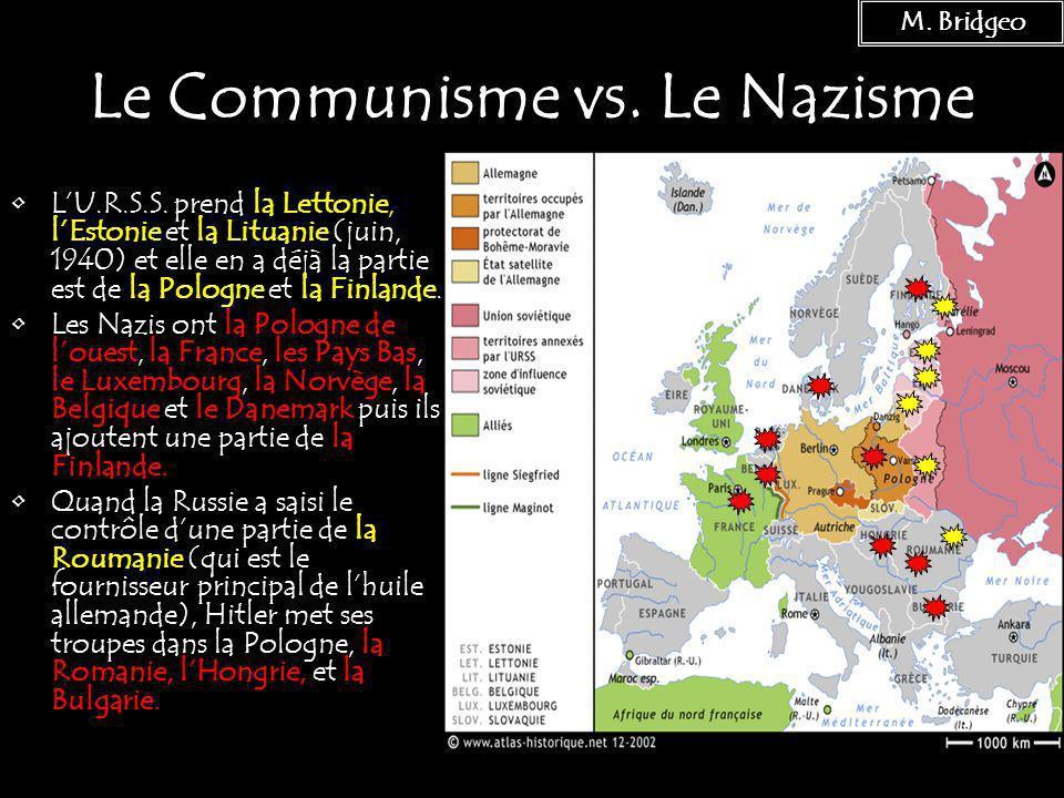 Le Communisme vs. Le Nazisme