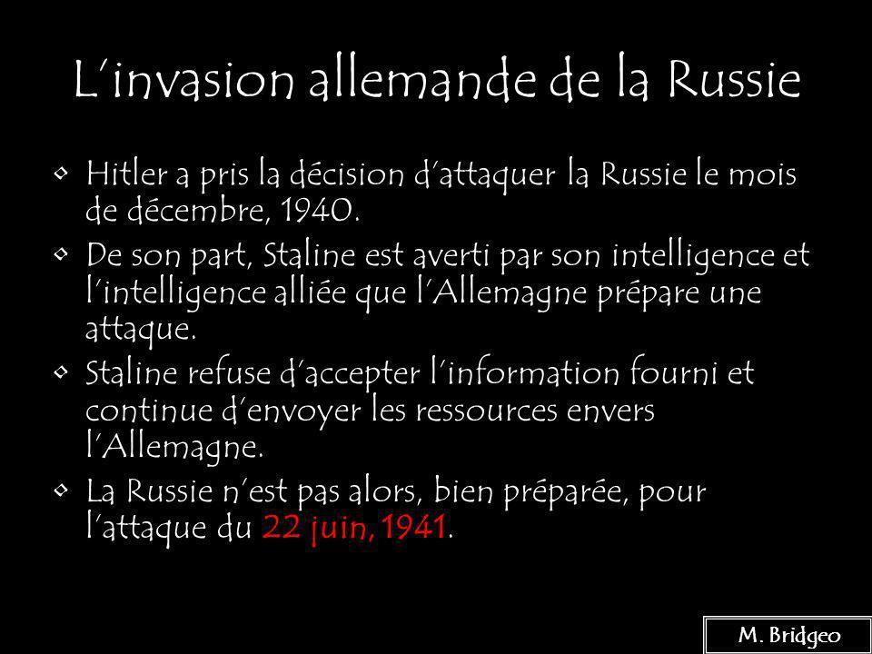L'invasion allemande de la Russie