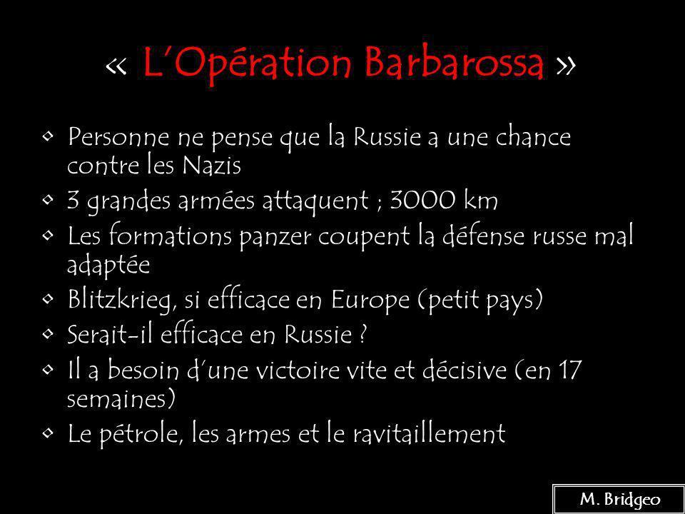 « L'Opération Barbarossa »