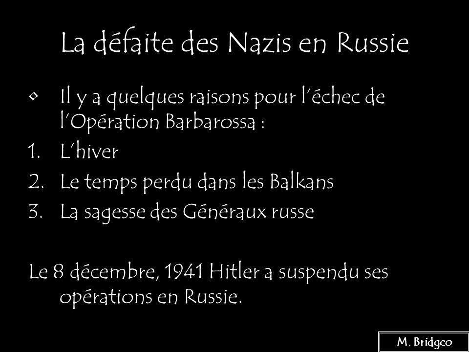 La défaite des Nazis en Russie