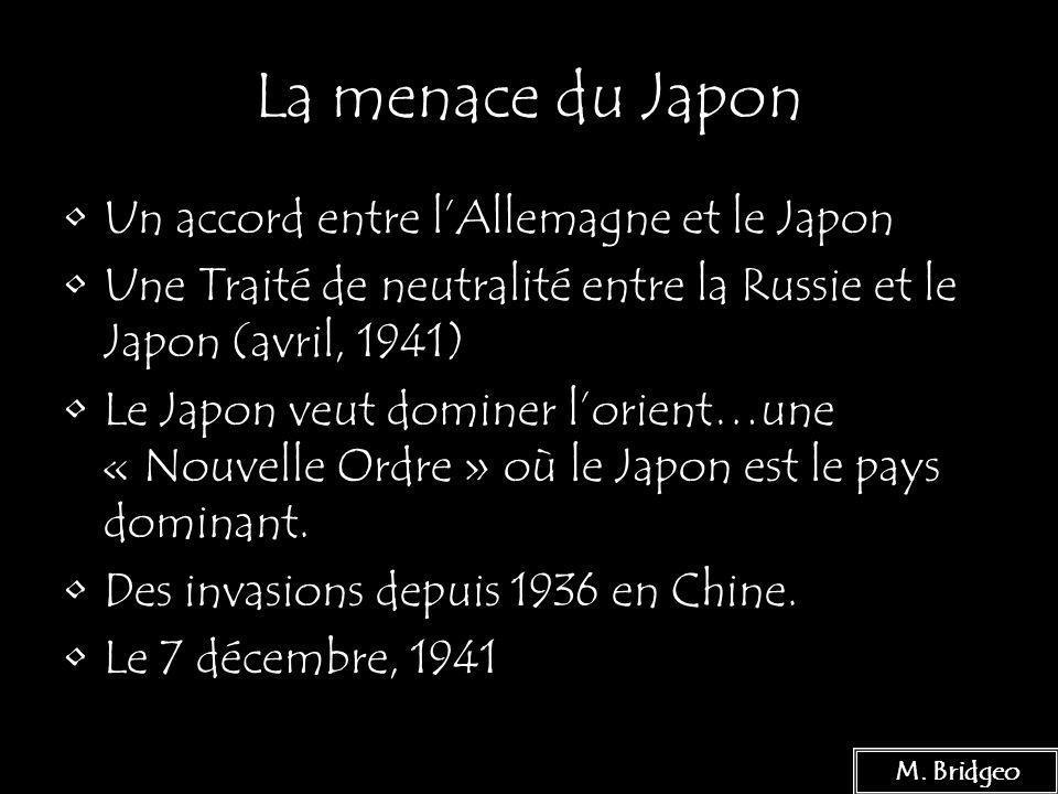 La menace du Japon Un accord entre l'Allemagne et le Japon
