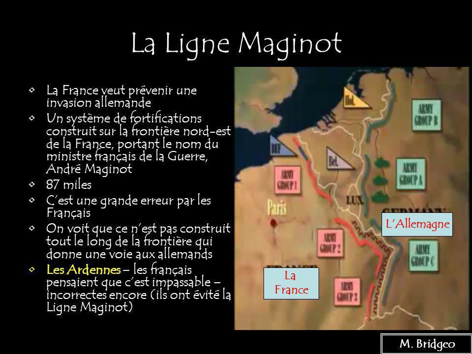 La Ligne Maginot La France veut prévenir une invasion allemande