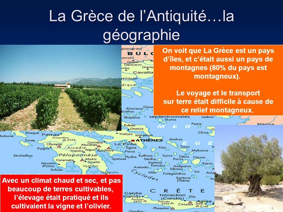 La Grèce de l'Antiquité…la géographie