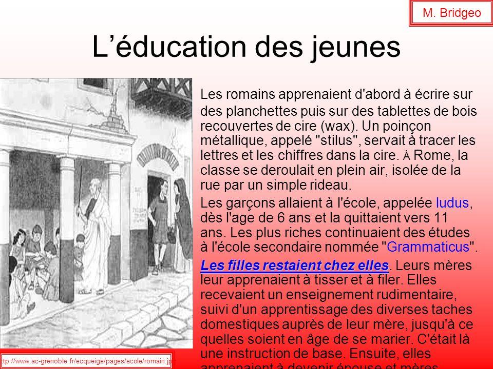L'éducation des jeunes