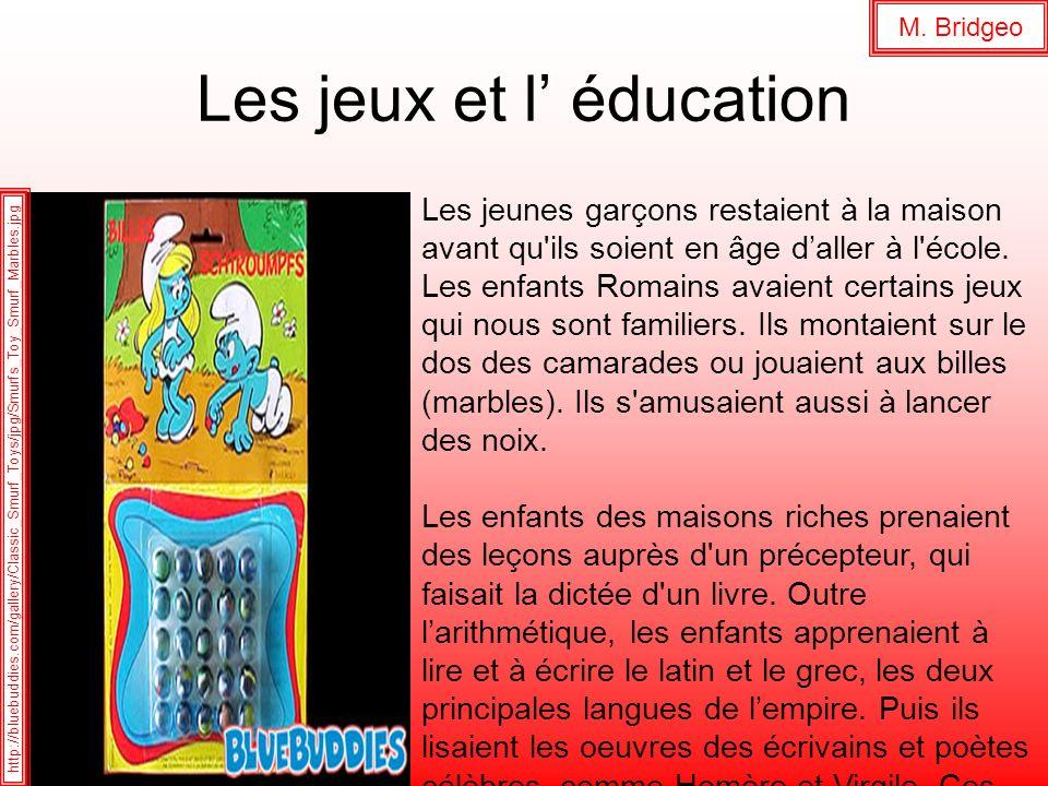 Les jeux et l' éducation