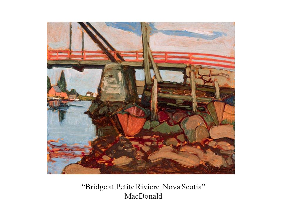 Bridge at Petite Riviere, Nova Scotia MacDonald