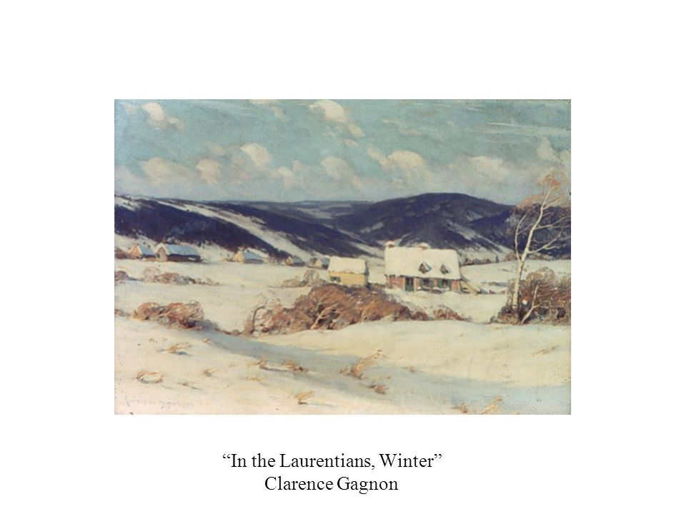 In the Laurentians, Winter Clarence Gagnon