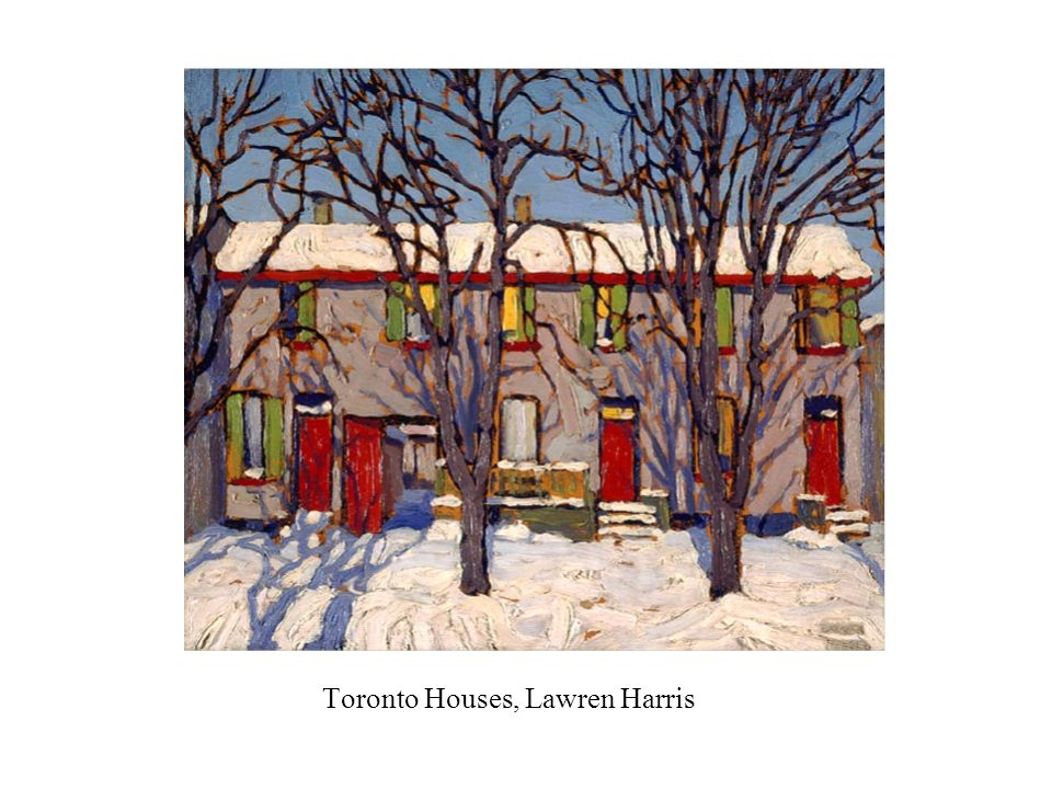 Toronto Houses, Lawren Harris